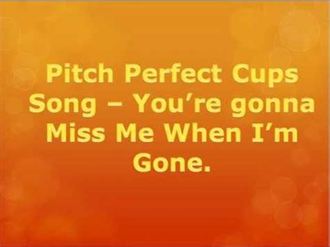testo cups the cup song pitch with lyrics