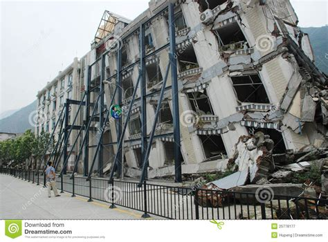 earthquake architecture earthquake destroy editorial photography image of