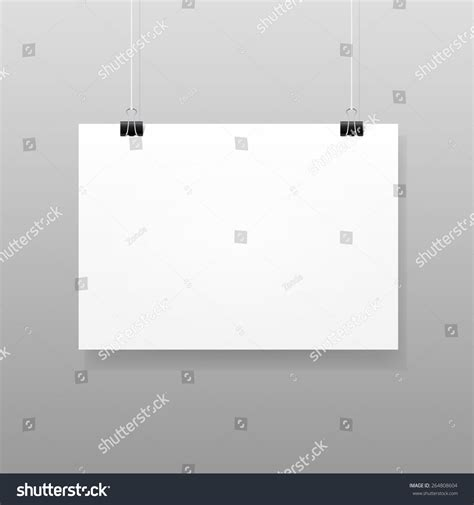 wall design templates vector white blank paper wall poster stock vector