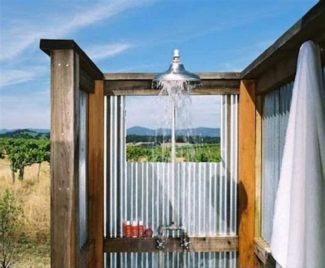 cottage outdoor shower hotels lodging solage and carneros inn in the napa