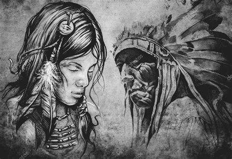 ilustra 231 227 o de tatuagem de mulher de 237 ndio americano