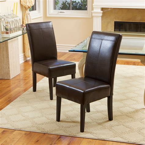 set   dining room chocolate brown leather dining chairs ebay
