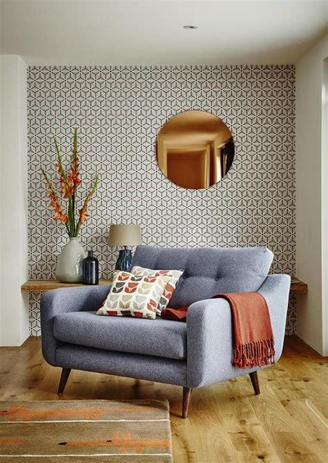 copper living room 10 mid century modern design lessons to remember orange highlights copper wall and modern