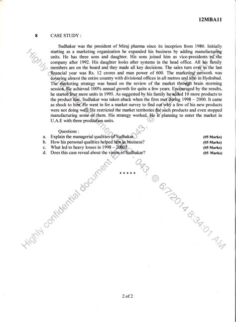 Mba 1st Sem Question Papers Ou 2014 by 1st Semester Mba June 2014 Question Papers