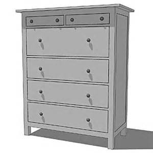 ikea hemnes chests white 3d model formfonts 3d models