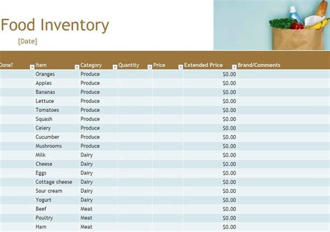 Kitchen Inventory Spreadsheet by Food Pantry Inventory Spreadsheet Laobingkaisuo