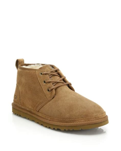 mens ugg chukka boots ugg neumel chukka boots in brown for chestnut lyst