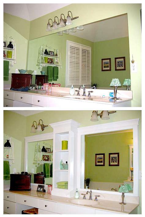 Add Trim To Bathroom Mirror Best 20 Bathroom Vanity Makeover Ideas On Pinterest Paint Bathroom Cabinets Diy Bathroom