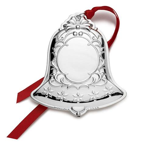 2015 wallace silver plated engravable bell christmas ornament