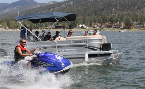 boat slip rental big bear lake water bikes pontoon boats waverunners at big bear marina