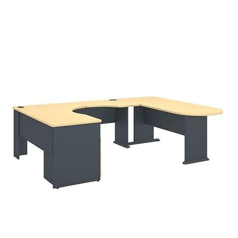 Corner Desk Beech Bush Business Series A U Shaped Corner Desk With Storage In Beech Sra037be