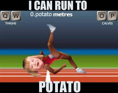 Qwop Meme - image 255138 i can count to potato know your meme