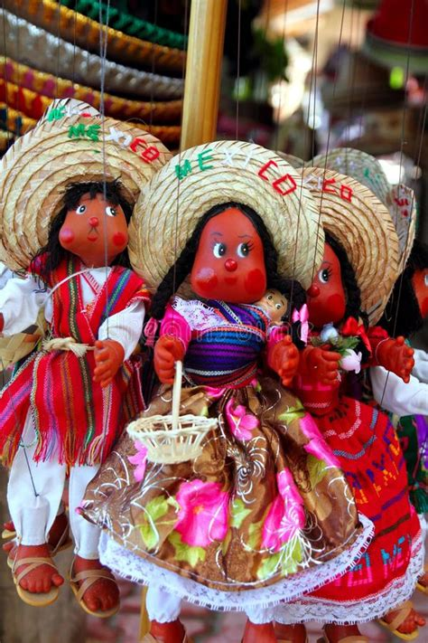 Mexican Handcrafts - doll puppet mexican handcrafts souvenir royalty free stock