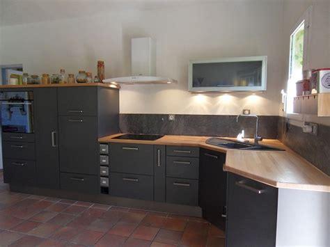 cuisine ikea grise laqu馥 ophrey com cuisine grise fonce et bois pr 233 l 232 vement d