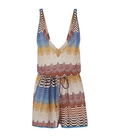 Patchwork Products - missoni mare patchwork playsuit in multicolor lyst