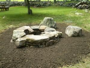 ideas fire pit stone
