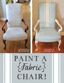 paint a fabric chair sincerely d