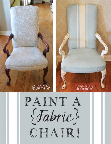 diy chalk paint on fabric paint a fabric chair sincerely d