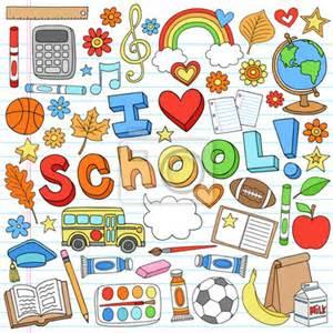 Arabic Wall Stickers papier peint i love school back to school supplies doodle