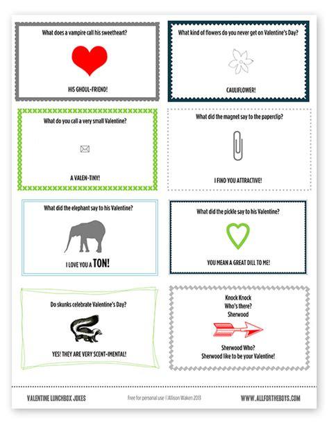 printable valentine jokes valentine printable joke notes all for the boys