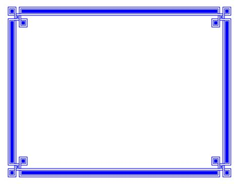 border card template 22 blue border templates blank certificates