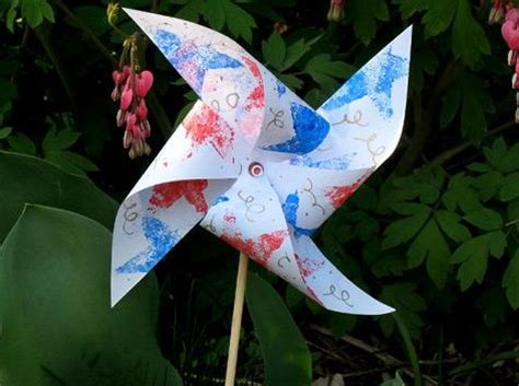 Frame Pinwheel Plastic Photo 4th of july ideas recipes activities decorations