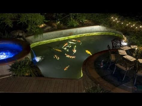 underwater led lights for ponds should i install under water lights in my koi pond youtube