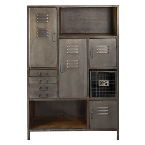 Lewis Cabinet by Mango Wood And Metal 4 Door 4 Drawer Storage Cabinet Lewis