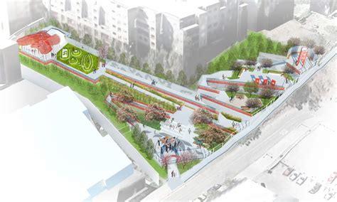ahbe landscape architects l a chinatown park transforms barren hillside into