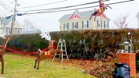 how to make reindeer santa sleigh outdoor project