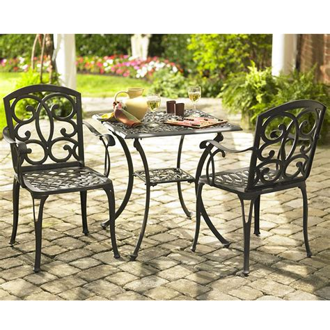 country living cast iron aluminum patio square bistro