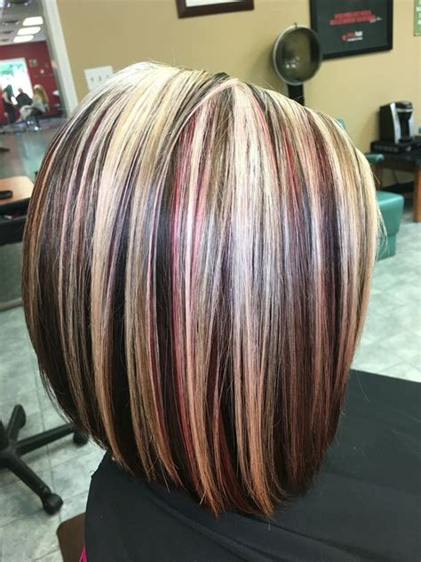 brown hair red tint blode highlights highlights brown hair and brown on pinterest