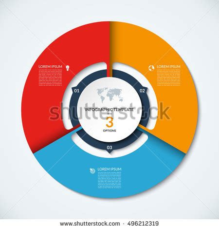 Vector Infographic Circle Template Graph Cycling Stock Vector 330355529 Shutterstock Circle Infographic Template