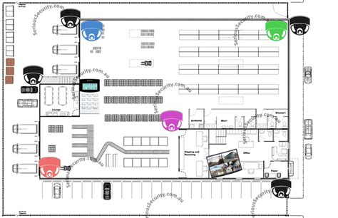 floor plan of warehouse warehouse security cctv serious security sydney