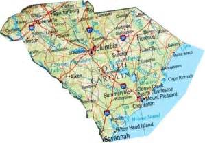 state map of south carolina map