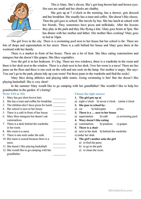 Reading Comprehension Test Adults | reading comprehension stories on superteacherworksheets