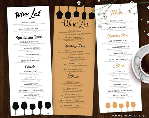 bar menu template free design templates menu templates wedding menu food