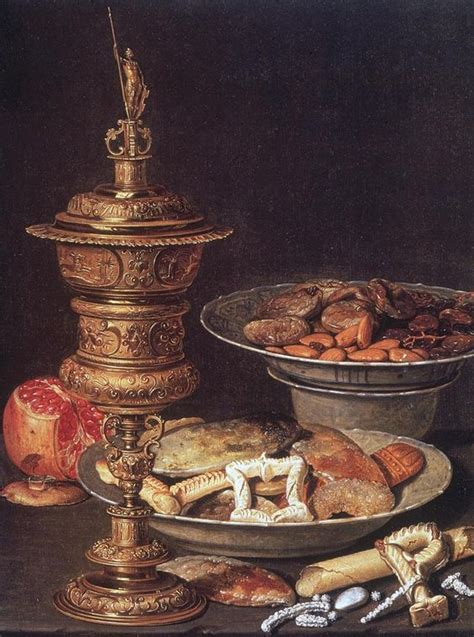 17th century cuisine clara peeters still with gilt cup and