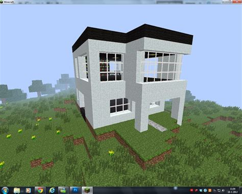 Minecraft Home Design Texture Pack Modern House With Self Designed Texture Pack Minecraft Project