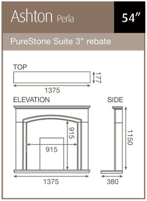 gas fireplace flue size pureglow ashton marble fireplace suite with gas