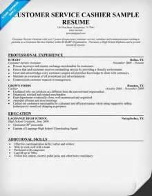 How To Write A Resume For Cashier Job Customer Service Cashier Resume Sample Work Pinterest