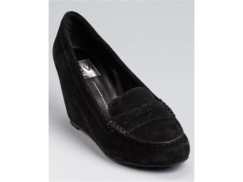 dolce vita suede loafers dolce vita piper suede wedge loafers in black taupe