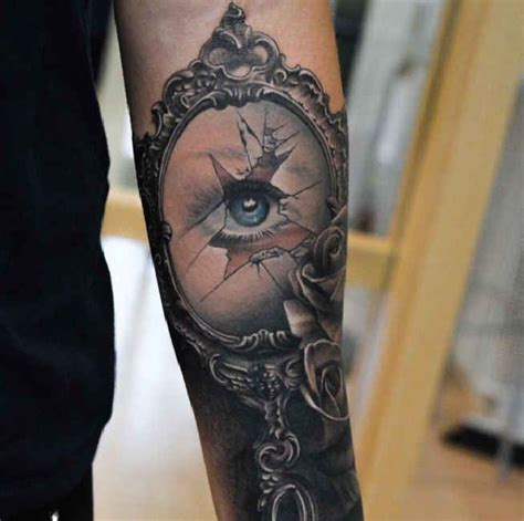 broken art tattoo 25 best ideas about mirror tattoos on