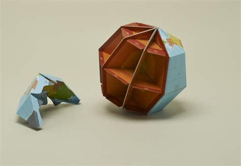 Origami Globe - these world maps can be folded into origami globes citylab