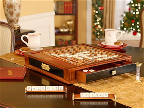 scrabble premier wood edition oprah s favorite things