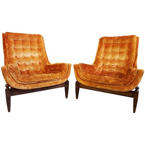 Velvet Lounge Chair by Velvet Lounge Chairs By Adrian Pearsall At 1stdibs