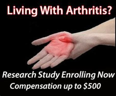 Paid Search Study Paid Clinical Research Study On Arthritis 500