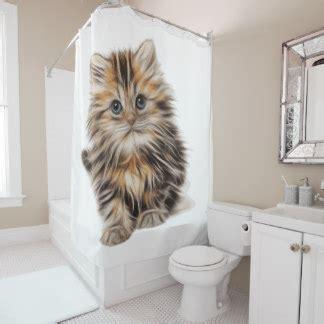 cats shower curtain kitten shower curtains zazzle