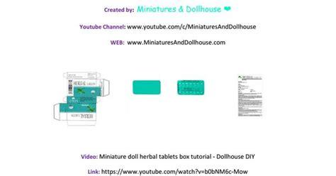 miniature and dollhouse plantillas miniature doll herbal tablets tutorial miniatures