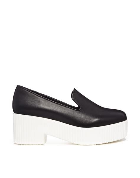 shelly shoes shellys lacharite monochrome leather heeled shoes